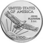 American Eagle Platinum Rückseite