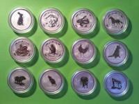 Lunar Serie I, Silber 1 Unze komplett Set 12 Stück OVP